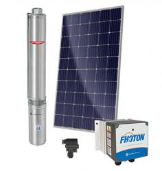 Sistema De Pressurização Schneider Fothon SolarPak Submersa SUB25-10NY4E6 3/4CV com 4 Painéis Solares