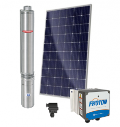 Sistema De Pressurização Schneider Fothon SolarPak Submersa SUB25-20S4E10 1,5CV com 8 Painéis Solares