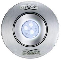 Luminária Hiper Led 9W Monocromático Branco Corpo ABS/ Frontal Inox/ Tubo 50mm - Cabo 1,5m