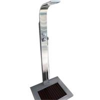 Ducha Advance em Aço Inox c/ misturador p/ água quente Sodramar com Vazão: 6,7 L por minuto