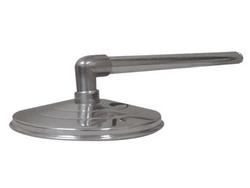 """Ducha Cascata de 12"""" em Alumínio c/ cano 1"""" Sodramar baixa pressão até 1,5 kg-cm² Vazão: 12,0 L por minuto"""