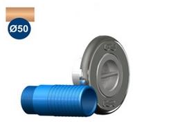 """Dispositivo de Aspiração Inox Pratic Sodramar de 1 1/2"""" p/ piscina de alvenaria (Tubo Ø 50)"""